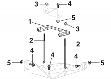 Auxiliary Battery Tray Components