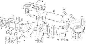 Steel Interior Body Parts