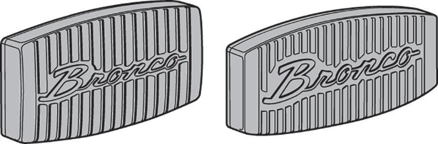 Bronco Script Pedal Pads