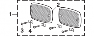 Grille Reflector and Components