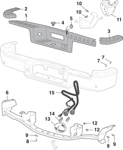 Flareside Rear Step Bumper Components