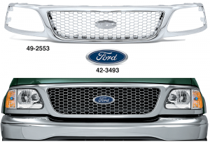 All Chrome Replacement Grilles - Honeycomb Style