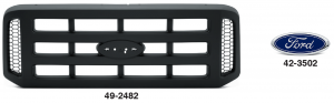 Grilles with Bar Insert