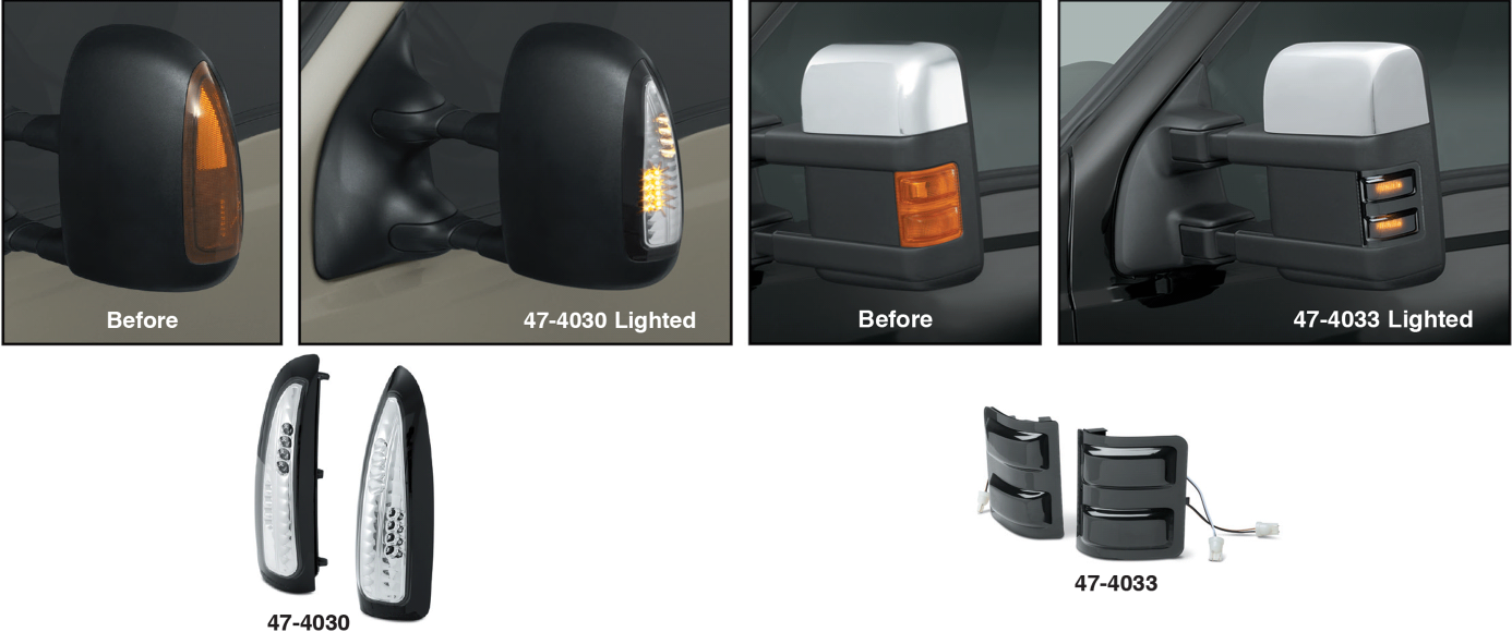 LED Tow Mirror Signal Light Sets