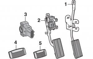 Accelerator, Brake and Clutch Pedals