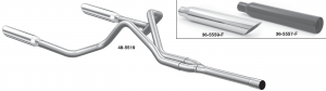 Cat-Back Performance Dual Exhaust Systems with Resonator Tips