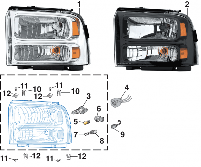 Combination Headlight Assembly