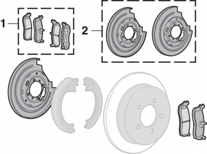Rear Disc Brake Parts