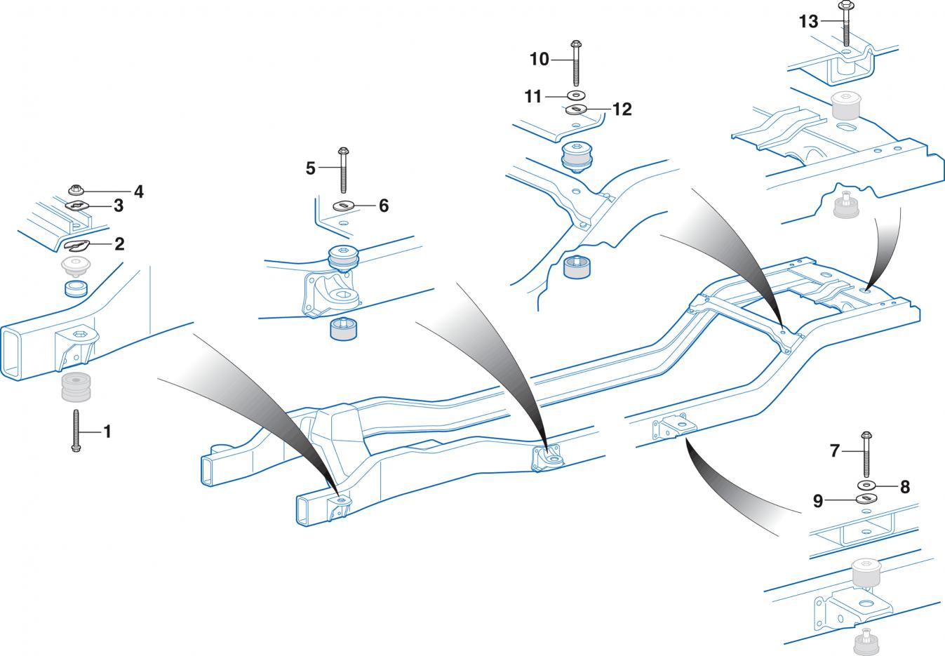 Radiator Core and Body Mounting Hardware