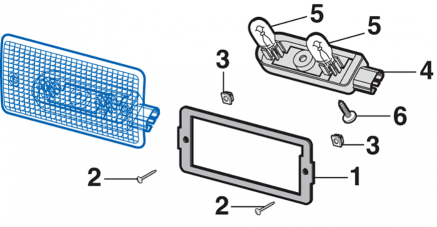 Third Brake Light Components