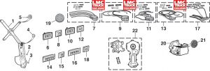 Front Power Window Components