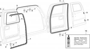 Rear Cargo Door Rubber Components