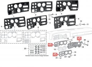 Dash Bezels and Instrument Lenses