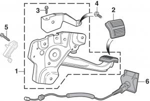 Parking Brake Pedal and Components - 1st Design