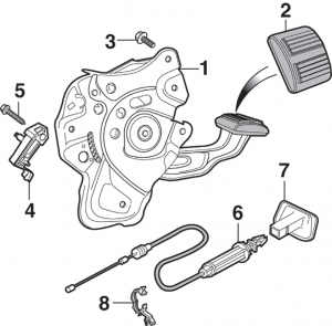 Parking Brake Pedal and Components - 2nd Design