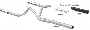 Cat-Back Performance Dual Exhaust System with Resonator Tips