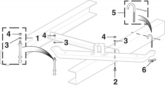 Under-Bed Spare Wheel Carrier Components