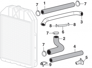 Radiator Components and Hose