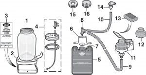 Washer Reservoir and Components