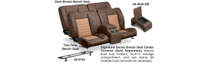 LMC Signature Series Bench Seats & Center Console