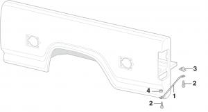 Styleside Bed Panel Brace