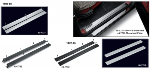 Door Sill Plate Set and Stainless Steel Threshold Plate Set