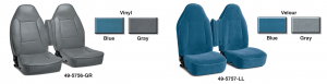 Original Style Vinyl and Velour Bucket Seat Reupholstery Kits