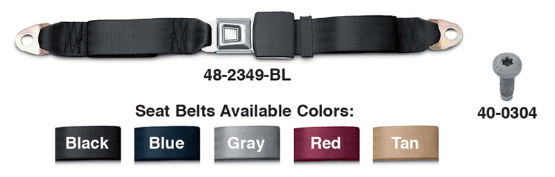 Lap Seat Belts and Mounting Hardware