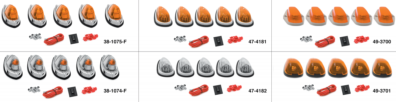 Cab Roof Light Kits