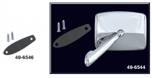Reproduction Chrome Door Mirror