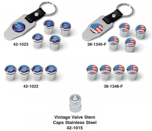 Logo Valve Stem Cap Sets