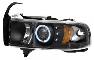 1994-02 Projector Headlight Set-Black