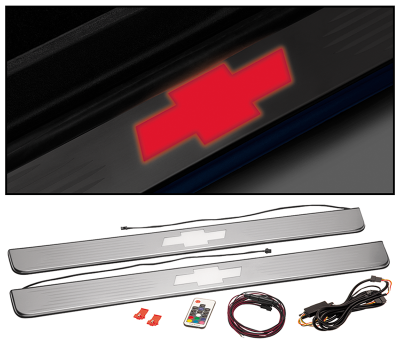 1960-87 Threshold Plate Set with LED Bowtie
