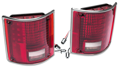 1973-91 LED Tail Light Set with Trim