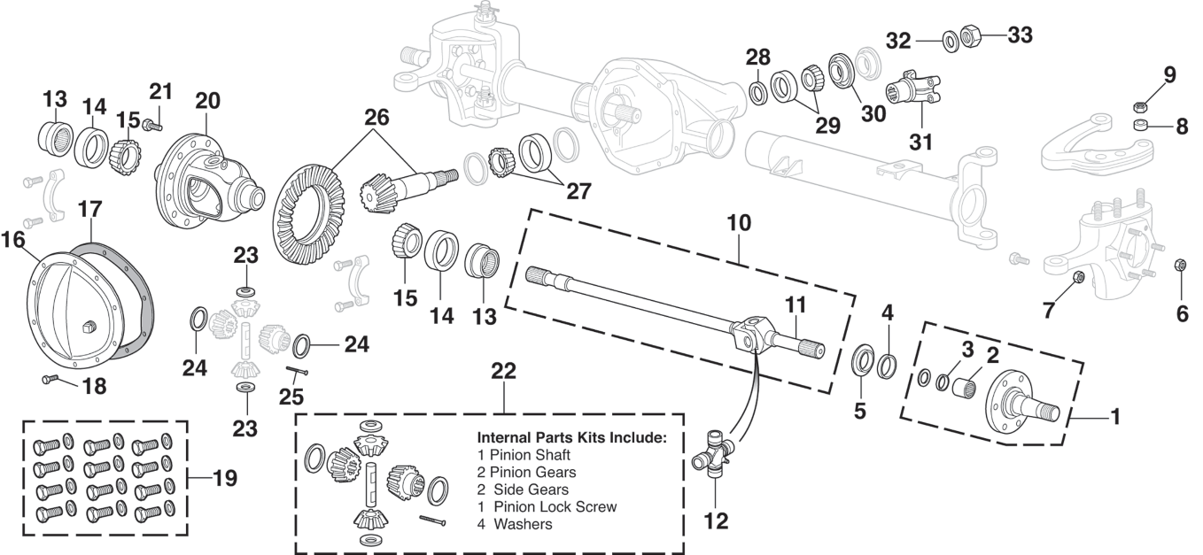 front differential - for gm 10 bolt with 8-1/2