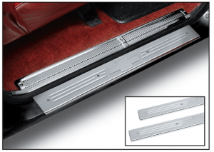 Polished Aluminum Front Threshold Plate Set with Bowtie
