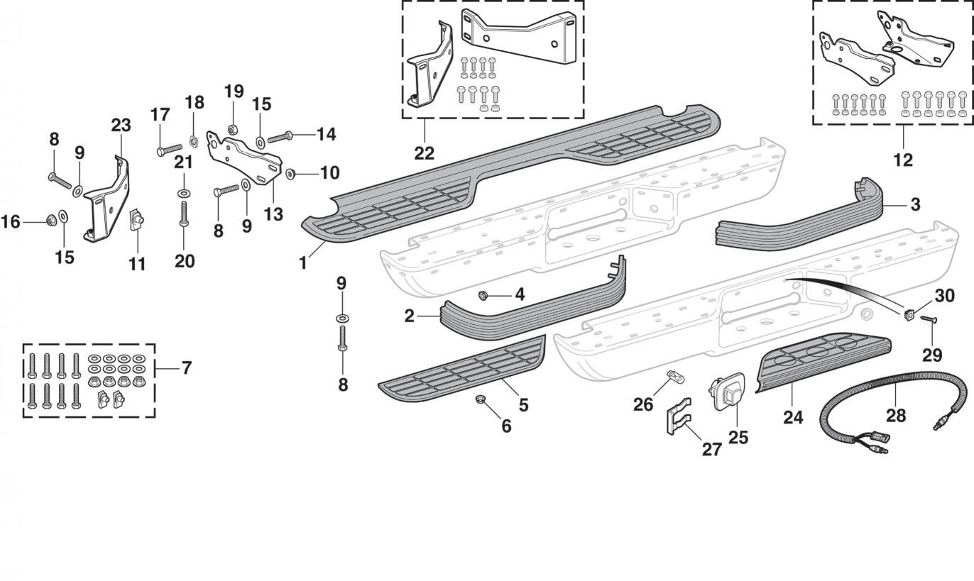 Rear Bumper Components