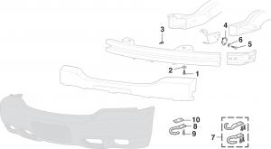 Denali Front Bumper Components
