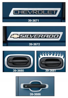 Stainless Steel Emblem and Door Handle Trim