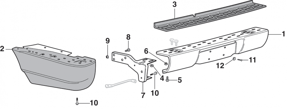 Rear Step Bumper - Stepside