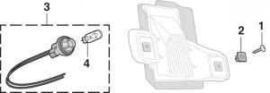 License Plate Lamp Components - Fleetside