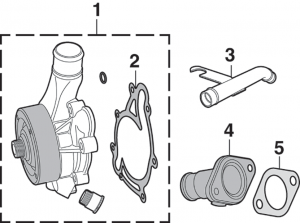 Water Pump, Fan Clutch and Water Outlet