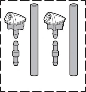 Universal Windshield Washer Nozzle Set
