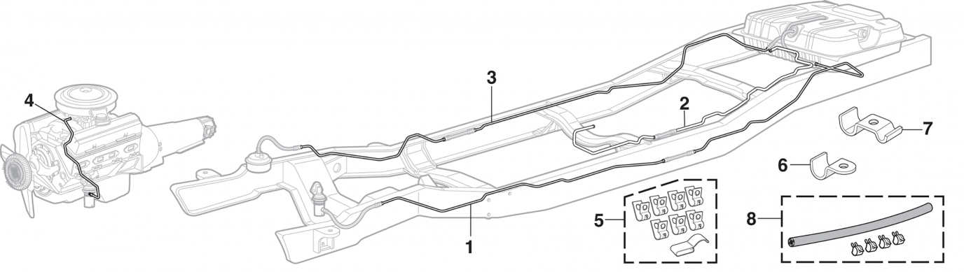 Pre-Bent Fuel Lines (with Rear-Mount Gas Tank)