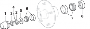 Front Wheel Bearings - 2 Wheel Drive
