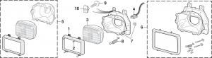 Rectangular Headlight and Components