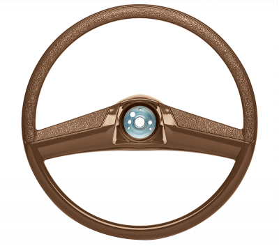Steering Wheel-15 Inch Brown