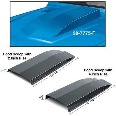Steel Hood Scoops