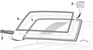Windshield and Molding