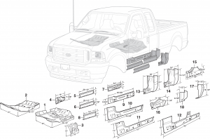Steel Cab Repair Panels